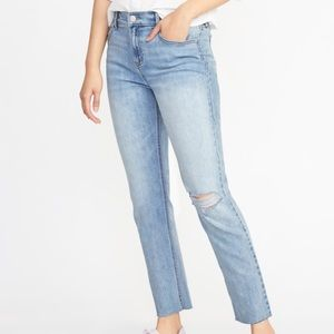Perfect Straight Mid-Rise Jeans